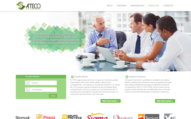 Página Web Responsiva para Ateco Desktop