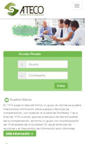Página Web Responsiva para Ateco Celular