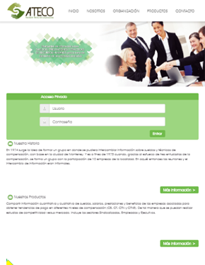 Página Web Responsiva para Ateco Tablet