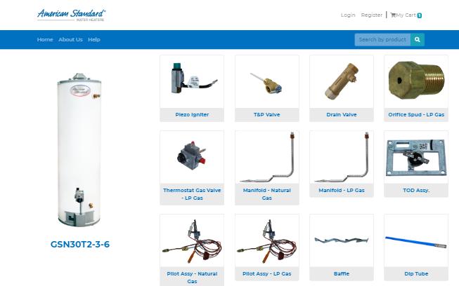 Página Web E-commerce para American Standard