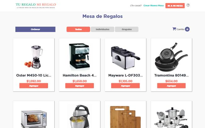 Página Web E-commerce para Tu Regalo Mi Regalo